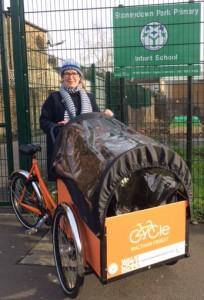 Cargo bike user