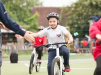 Youngsters enjoying cycle training