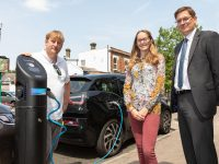 The new electric charging point at Winchester Road